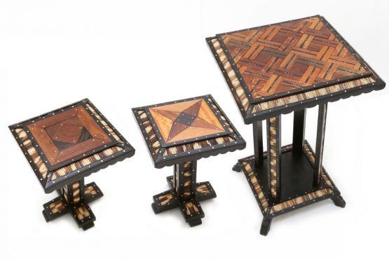 Старинный восточный набор столиков