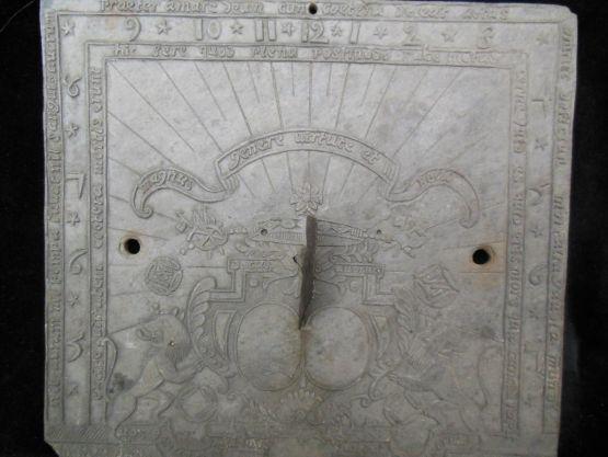 Солнечные часы из Лотарингии, XVII в.