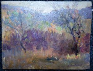 Пейзаж.  Alfred Andrieu, 1918 г.