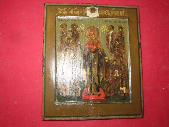 Икона Божией Матери. Россия, конец XVIII в.