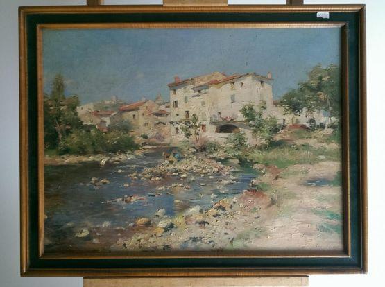 Сельский пейзаж.  Gustave Julien Gagliardini, XX в