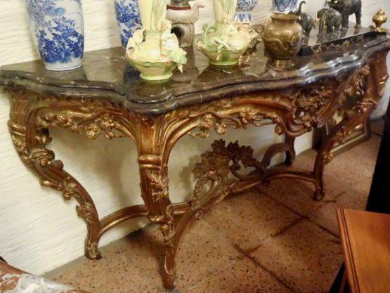 Комплект из зеркала и консольного столика