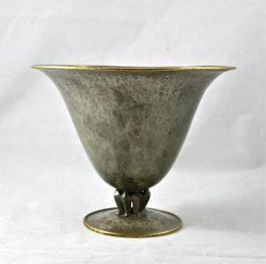Чаша из посеребренного олова.  Daurat, ХХ в.
