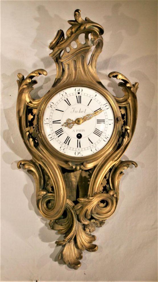 Бронзовые часы-картель в стиле Людовика XV, XVIII