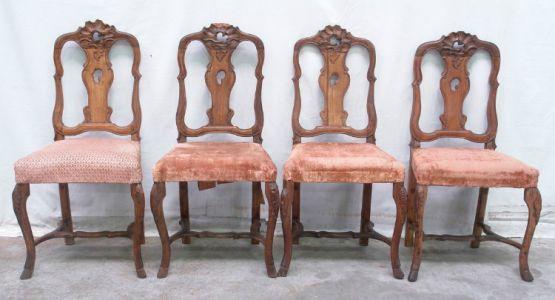 Четыре стула, стиль ЛюдовикаXV, XIX век