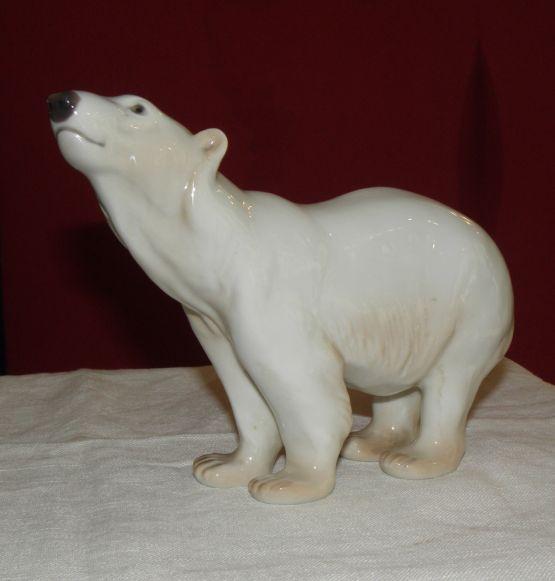 Статуэтка 'Белый медведь'. Bing & Grøndahl, ХХ в.