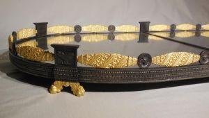 Большой бронзовый поднос в стиле ампир, XIX в.