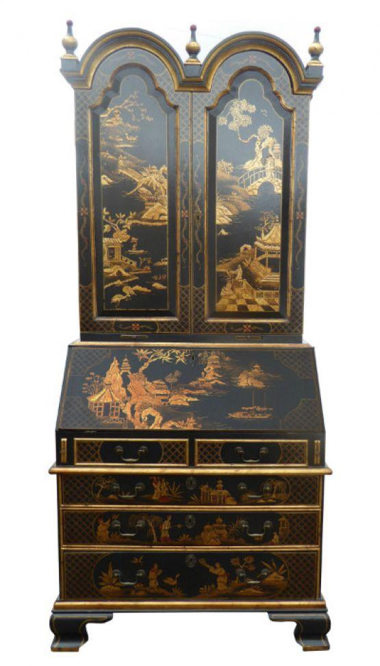 Книжный шкаф-бюро черного цвета, XVIII век