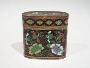 Коробочка для опиума, клуазоне, Китай, XIX в.