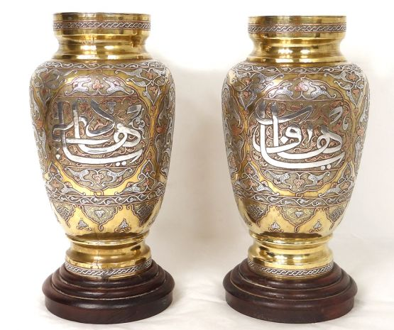 Две персидские вазы, Ср. Восток, ок. 1900 г.