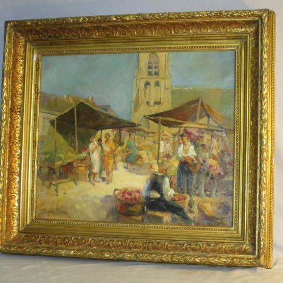 'Рынок в Провансе'. Jacques Madyol, ХХ в.