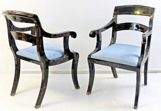 Инкрустированные мозаичные стулья