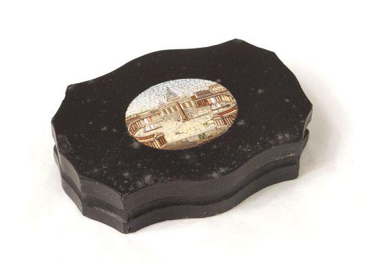 Пресс-папье с микро-мозаикой, мрамор, XIX в.