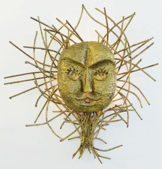 Настенная лампа из латуни. P. Moerenhout, 1960 г.