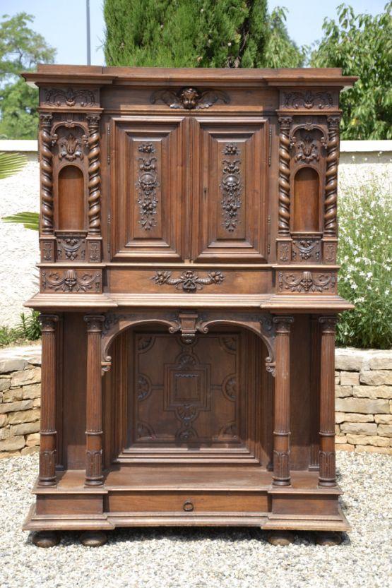 Книжный шкаф из ореха в стиле Ренессанс, XIX в.