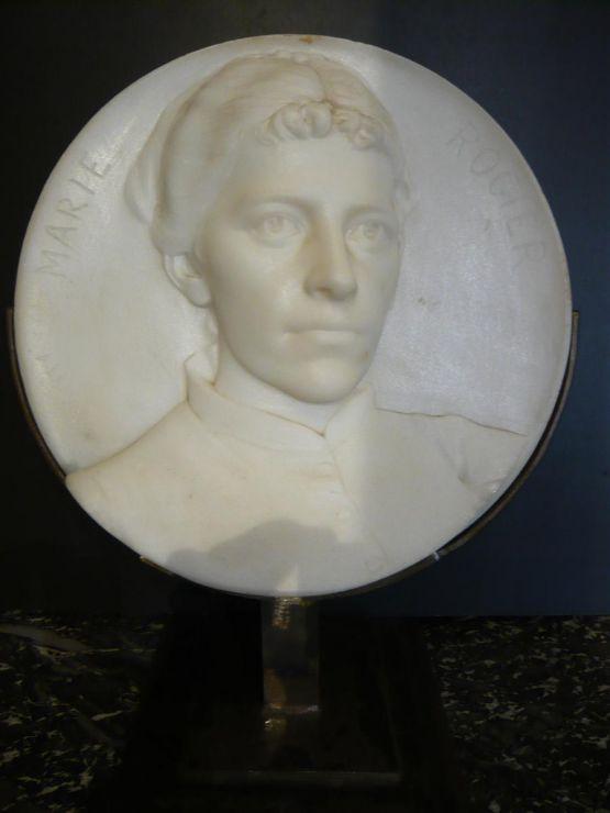 Мраморный медальон, XIX в.