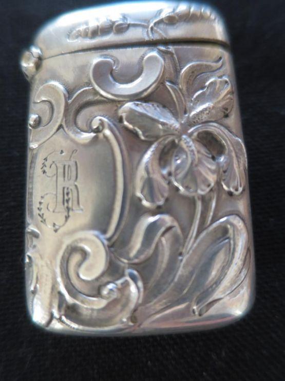 Серебряная спичечница, Ар-нуво, XIX в.