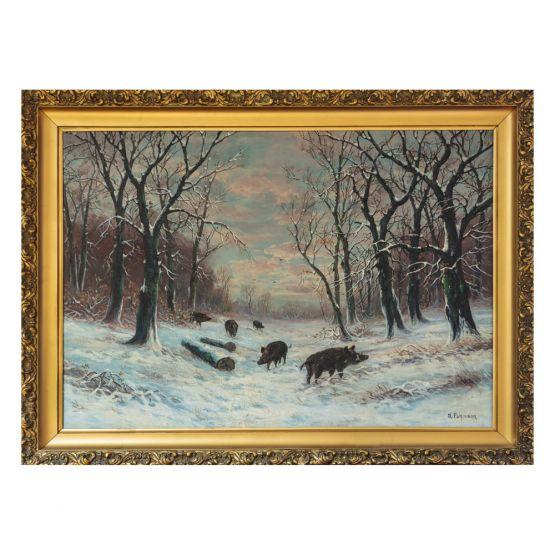 Зимний пейзаж, А. Полманна