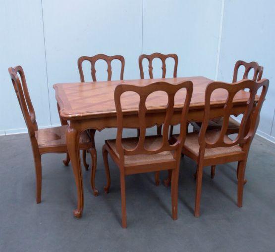 Гарнитур для столовой из дуба, стиль Людовика XV