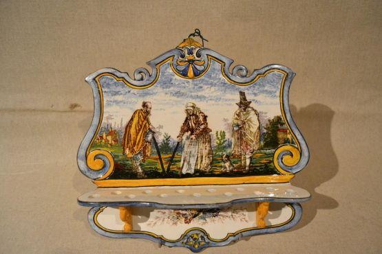 Подставка для тарелок. Gien, XIX в.