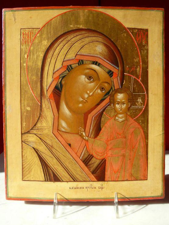 Икона Казанской Божьей Матери, начало XIX в.