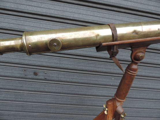 Латунная подзорная труба на подставке, XIX в.