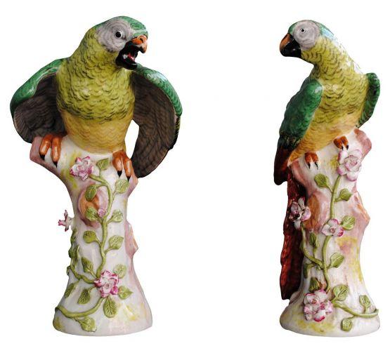 Пара попугаев из немецкого фарфора, XIX в.