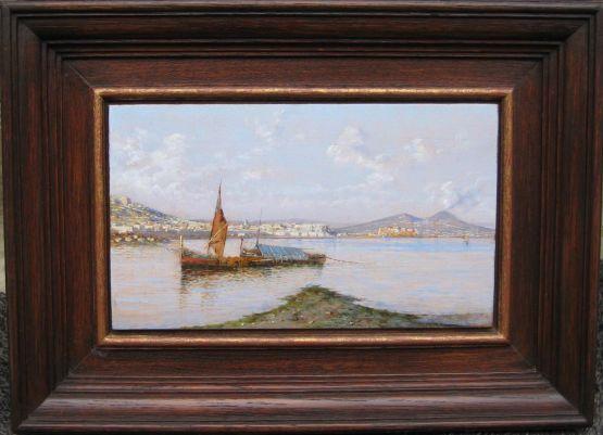 'Вид на Неаполь'. Giuseppe Carelli, XIX в.
