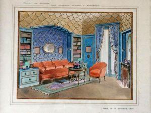 Проект дизайна интерьера. Париж, 1922 г.