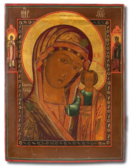 Икона  Божьей Матери Казанской. Россия, XIX век