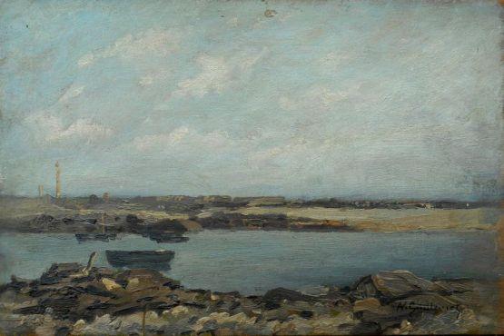 'Вид на Пуант-де-Барфлёр'. Antoine Guillemet, XIX