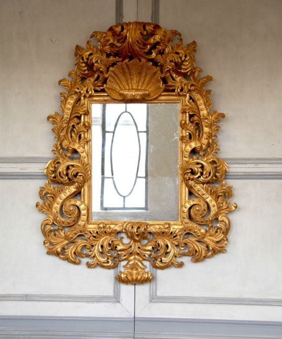 Зеркало в золотой раме эпохи Людовика XV