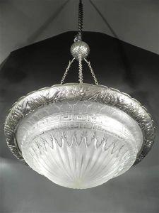 Люстра из стекла и латуни. Charles Schneider, 1925