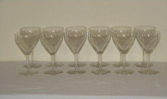 Набор из 12 хрустальных бокалов для вина, XIX в.