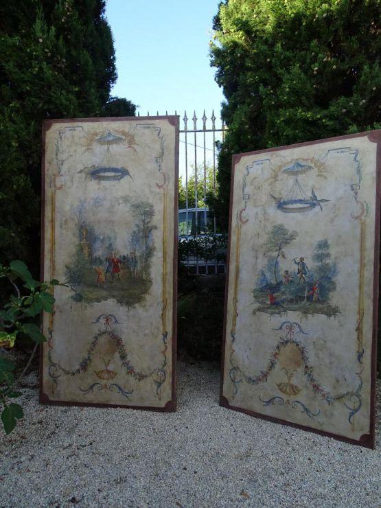 Две расписные панели в стиле XVIII в.