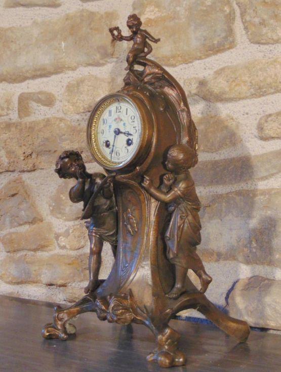 Винтажные часы в стиле Ар-Нуво, ХХ в.