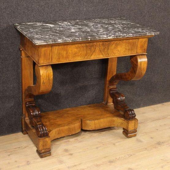 Инкрустированный консольный стол. Франция, XIX век