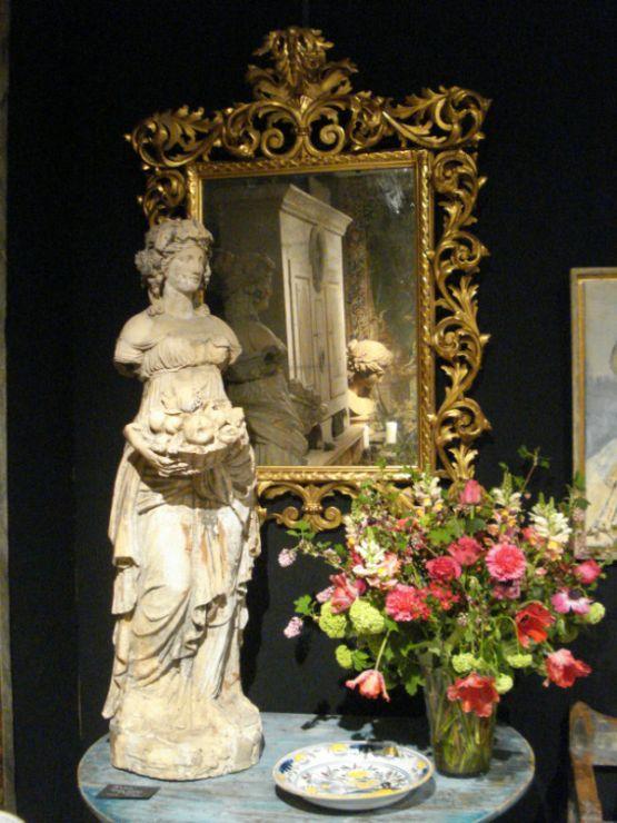 Зеркало в позолоченной раме, XIX в.