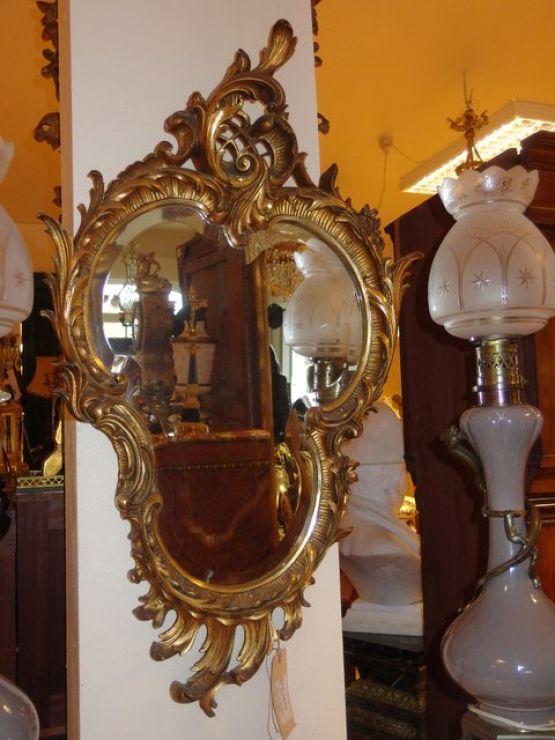 Зеркало с фаской в стиле барокко