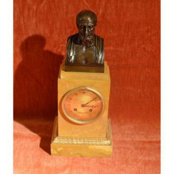 Часы с бюстом Гиппократа, XIX в.