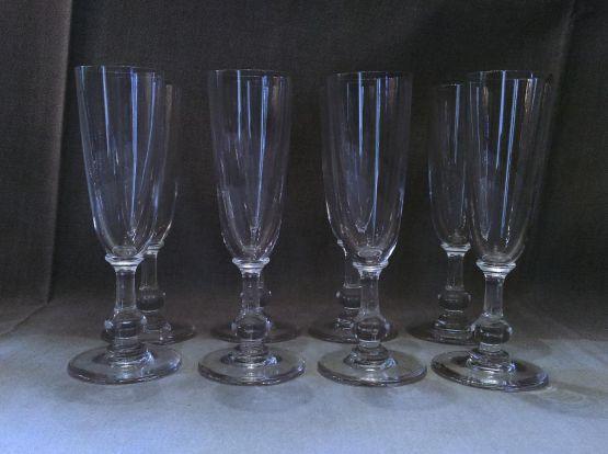 8 бокалов для шампанского 'Bizet', ХХ в.