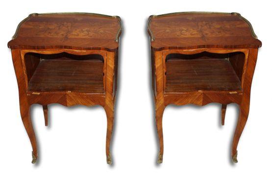 Прикроватные тумбочки с маркетри. Франция, XIX