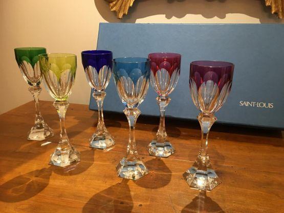 6 бокалов для вина 'Chambord', ХХ в.