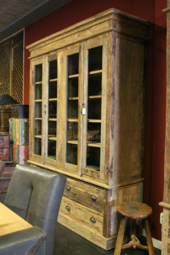 Четырехстворчатый книжный шкаф из тика