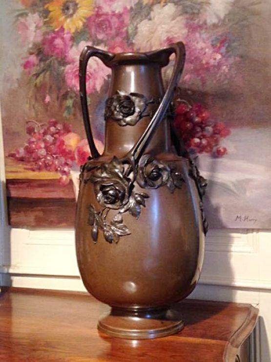 Большая бронзовая ваза, Ар-нуво, 1900-е гг.