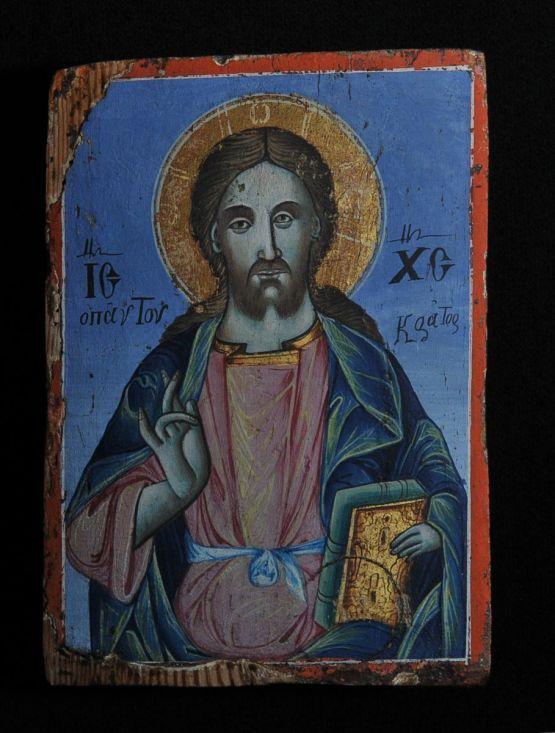 Икона Христа Пантократора. Болгария, начало XIX в.
