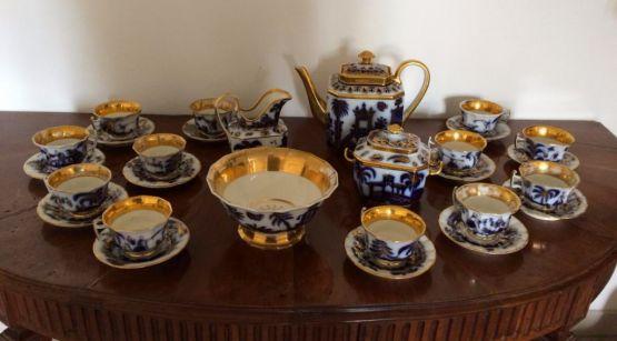 Чайный сервиз из фарфора Байё. Франция, XIX в.