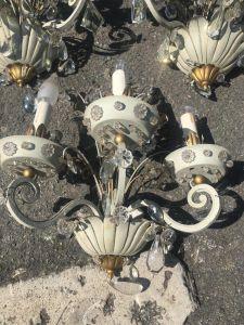 5 светильников из стекла и металла. Baguès, ХХ в.