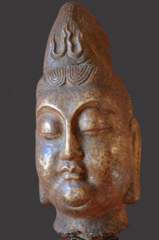 Мраморная голова Будды, Южная Азия