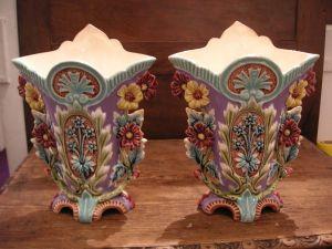 Две вазы из барботина. Франция, XIX в.